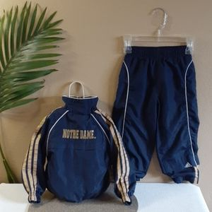 NOTRE DAME kids tracksuit Windbreaker jacket pants